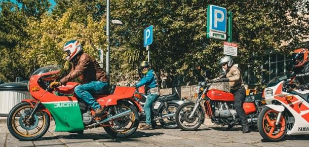 Motos Clássicas em passeio pelo Centro de Portugal